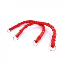 Anses de sac en bambou en forme de U - rouge