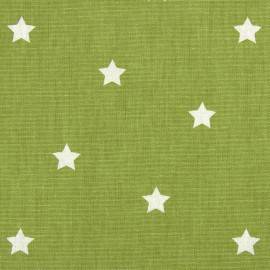 Varnished and coated cotton fabric Twinkle - eucalyptus  x 10cm