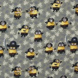 Percale cotton Fabric  Les Minions Pirates - kaki x 26cm