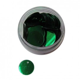 1 box of rounded-shaped sequins - green