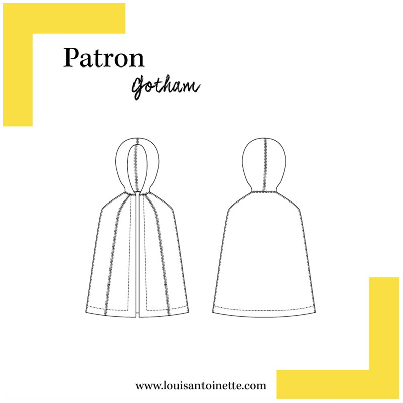 Louis Antoinette sewing pattern - Gotham Cloak