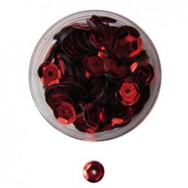 Boite paillette rouge