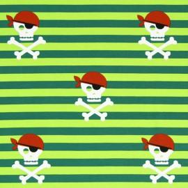 Tissu Jersey rayures Hissez ho ! - vert clair x 19cm