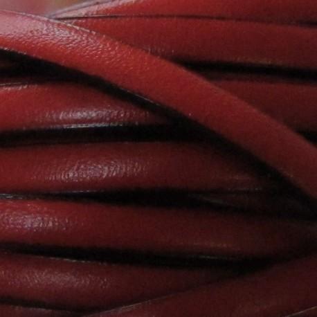 Cuir plat rouge par 50 cm