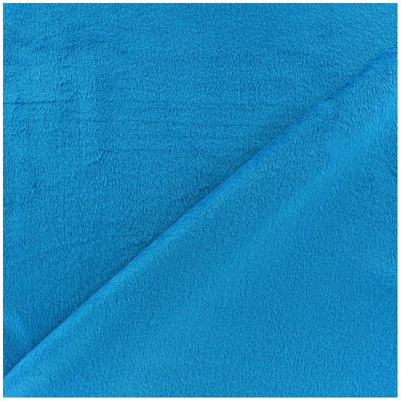 tissu velours minkee r versible uni toodoo bleu turquoise x 10cm ma petite mercerie. Black Bedroom Furniture Sets. Home Design Ideas