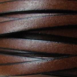Cuir plat noisette par 50 cm