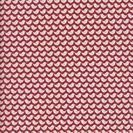 Tissu coton Makower UK Windy day Birds - rust x 10 cm