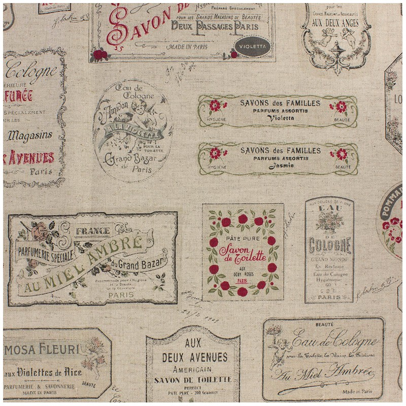 Tissu toile de coton lin savon noir et rouge x 61cm ma petite mercerie - Araignee rouge savon noir ...