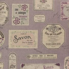Tissu toile de coton lin Savon - lavande x 61cm