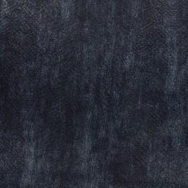 Tissu stretch imprimé Ecailles - bleu x 10cm