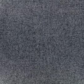Tissu stretch imprimé denim - bleu x 10cm