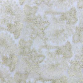 Tissu Dentelle brodée lurex sur tulle Paisley - doré x 10cm