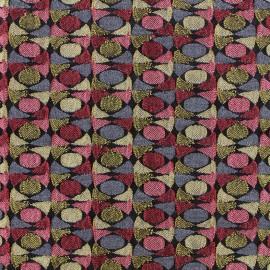 Tissu jacquard stretch Rétro - rouge x 10cm