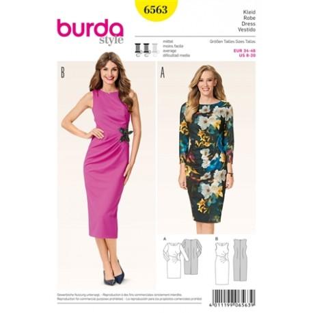 Patron Robe Burda n°6563