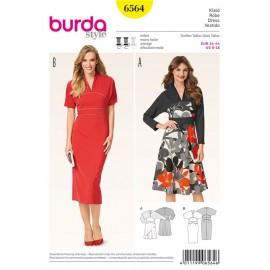 Patron Robe Burda n°6564