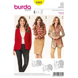 Patron Femme Veste Burda n°6569