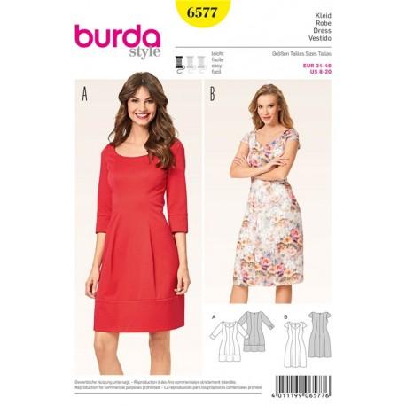 Patron Robe Burda n°6577