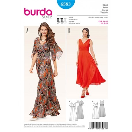 Patron Robe Burda n°6583