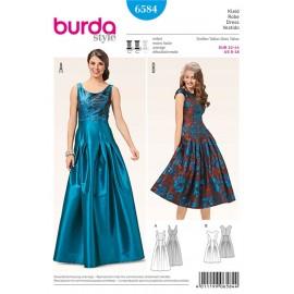 Patron Robe Burda n°6584