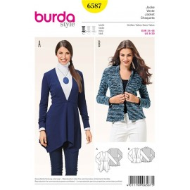 Jacket Burda Sewing Pattern N°6587