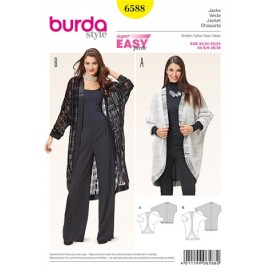Jacket Burda Sewing Pattern N°6588