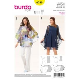 Patron Femme Robe & Haut Burda n°6589