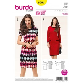 Patron Robe Burda n°6604