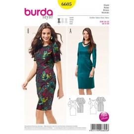 Patron Robe Burda n°6605