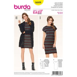 Jacket & Dress Burda Sewing Pattern N°6608