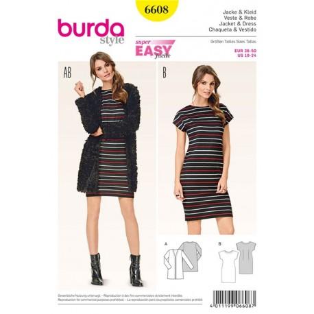 Jacket & Dress Burda Sewing Pattern N°6608