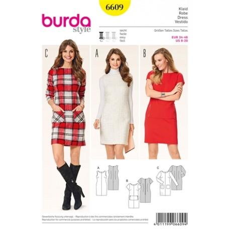 Dress Burda Sewing Pattern N°6609