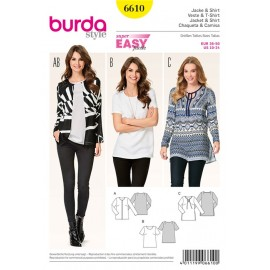 Patron Femme Veste & T-shirt Burda n°6610