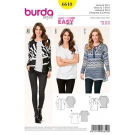 Veste & T-shirt Burda n°6610