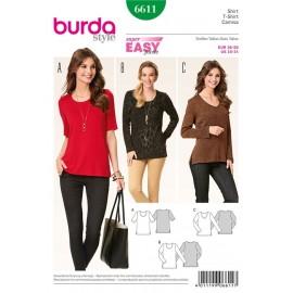 Patron T-shirt Burda n°6611