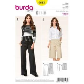 Patron Femme Pantalon Burda n°6613