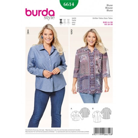 Patron Blouse Burda n°6614