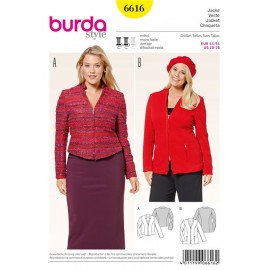 Jacket Burda Sewing Pattern N°6616