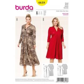 Patron Robe Burda n°6618
