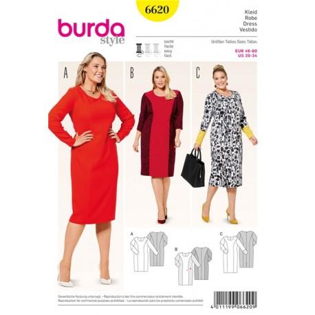 Dress Burda Sewing Pattern N°6620