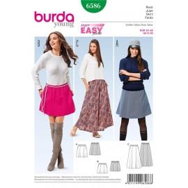 Skirt Burda Sewing Pattern N°6586