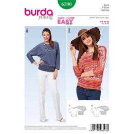Patron Femme T-shirt Burda n°6590