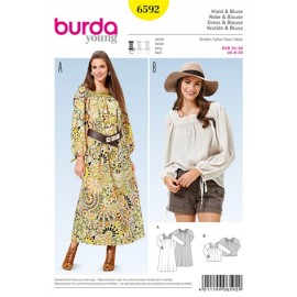 Patron Robe & Blouse Burda n°6592