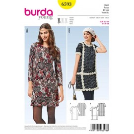 Patron Robe Burda n°6593