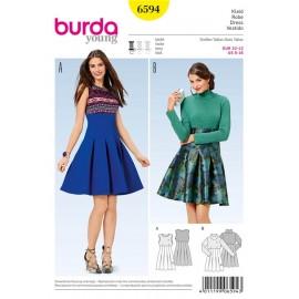 Patron Robe Burda n°6594