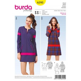 Patron Robe Burda n°6595