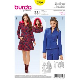 Coat & Jacket Burda Sewing Pattern N°6596