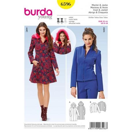 Coat & Jacket Burda Sewing Pattern N°6596