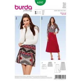 Patron Jupe Burda n°6597