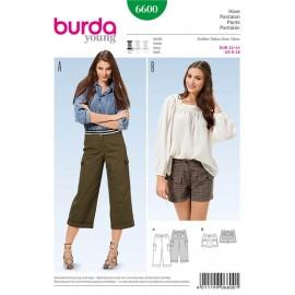 Patron Pantalon Burda n°6600