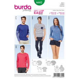 T-shirt Burda Sewing Pattern N°6602